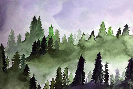 Waldskizze