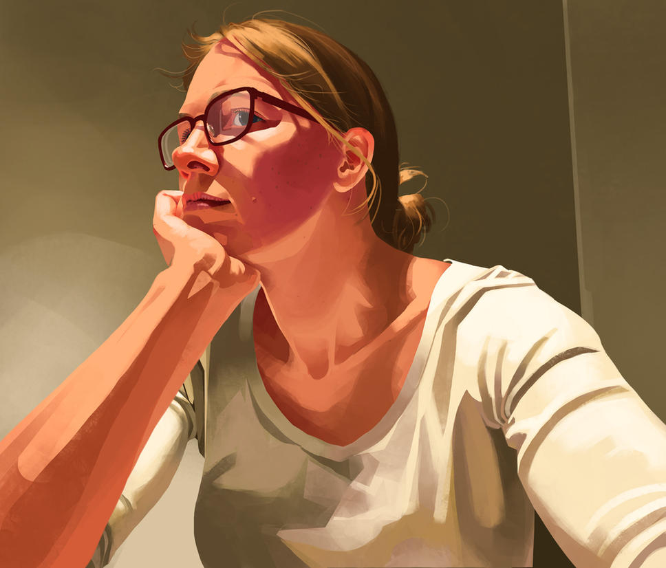 Self-portrait by CharlotteHintzmann
