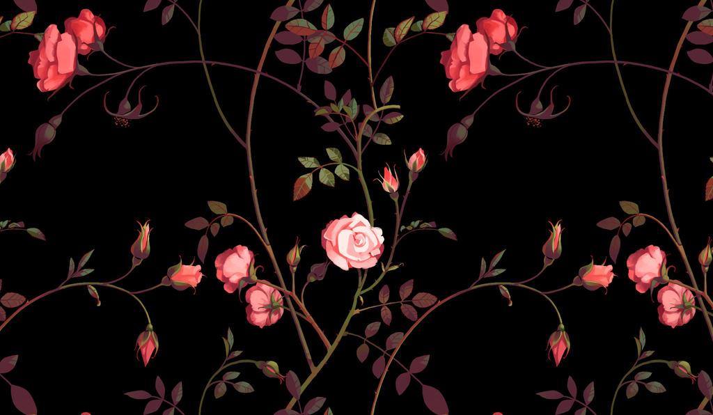 Rose Pattern by CharlotteHintzmann