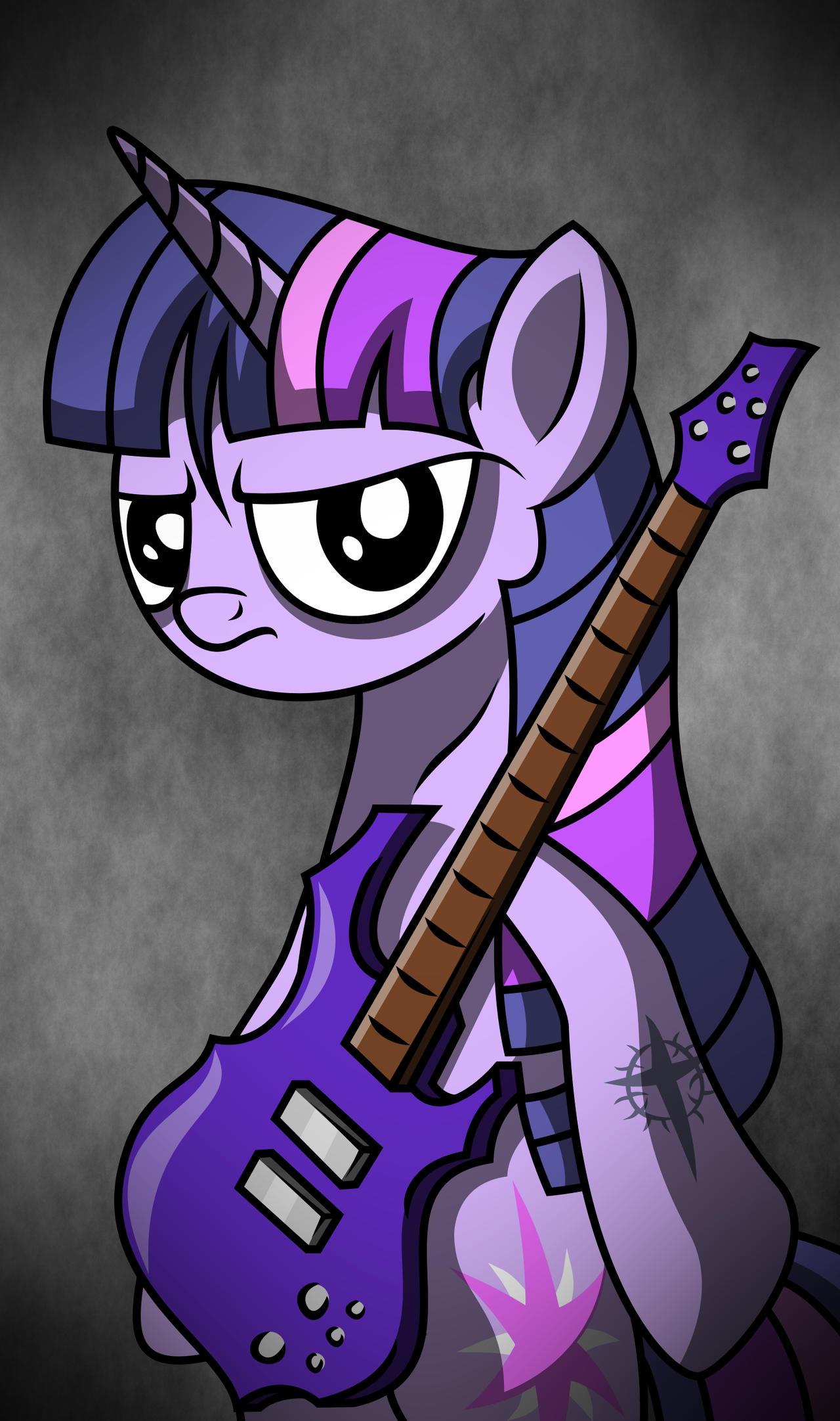 Purple Bass by FriendshipIsMetal777