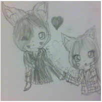 Fox Chibi Couple by RosyBonesProductions