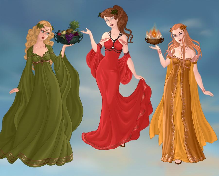 Demeter,Hera y Hestia by LuzzAzul on DeviantArt