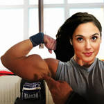 I flexed my biceps...