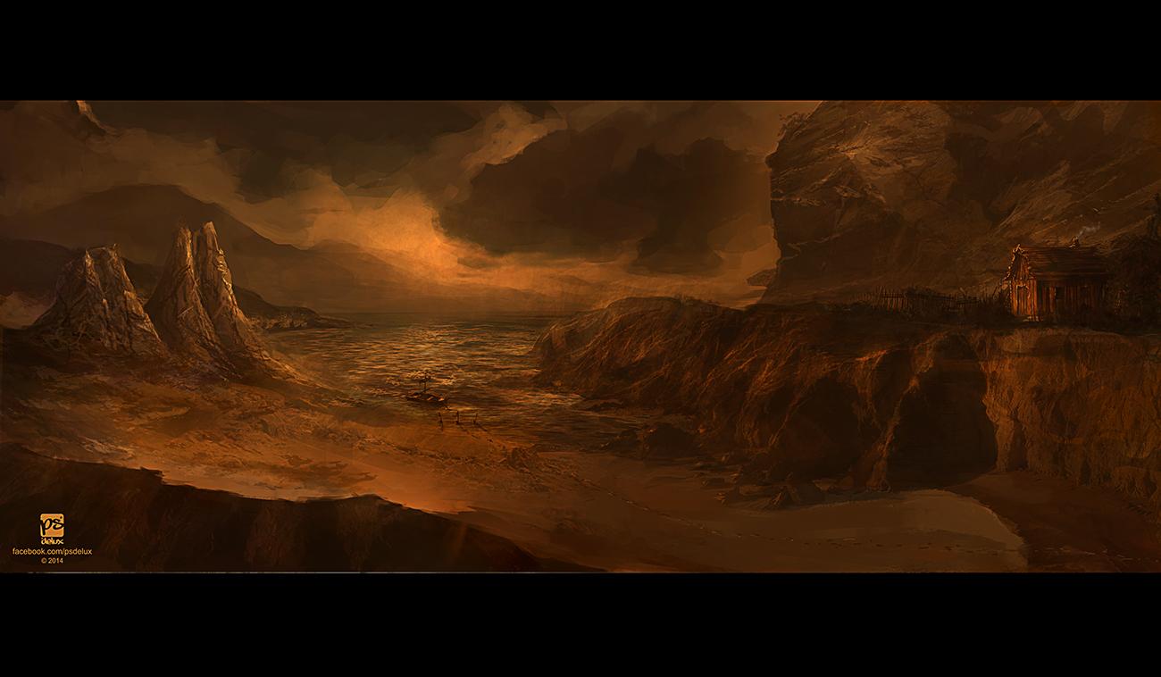 Golden shore by psdeluxe