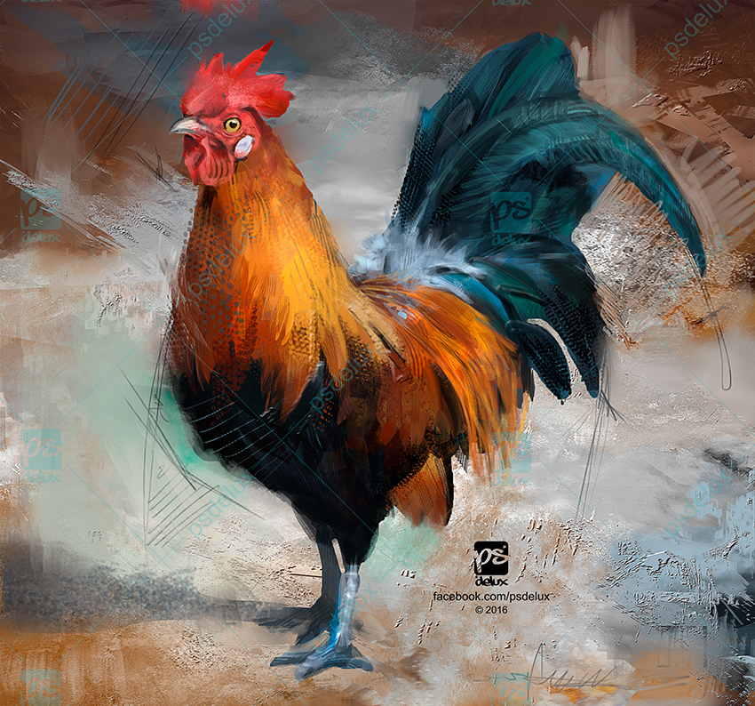 20161225 Rooster Psdelux by psdeluxe