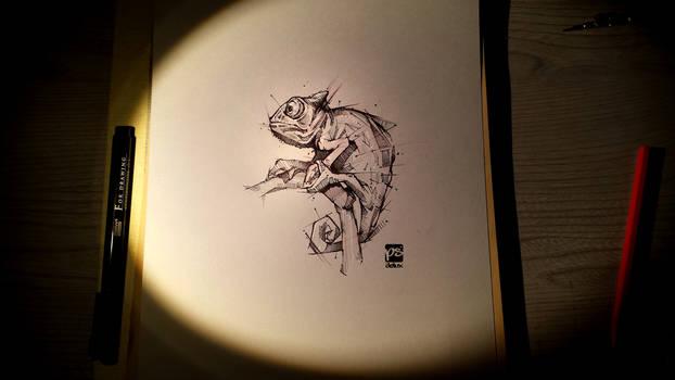 Chameleon Sketch Psdelux
