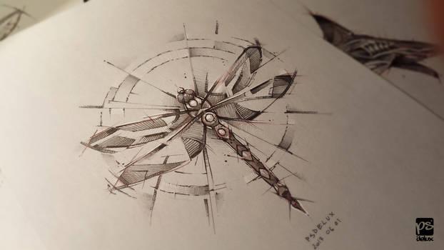Dragonfly Sketch Psdelux
