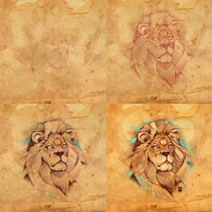 20170721 Lion Steps Psdelux