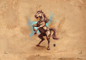 20170806 Horse Psdelux by psdeluxe