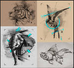 Animal Sketches Psdelux by psdeluxe