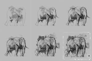 20170820 Elephant Steps Psdelux by psdeluxe