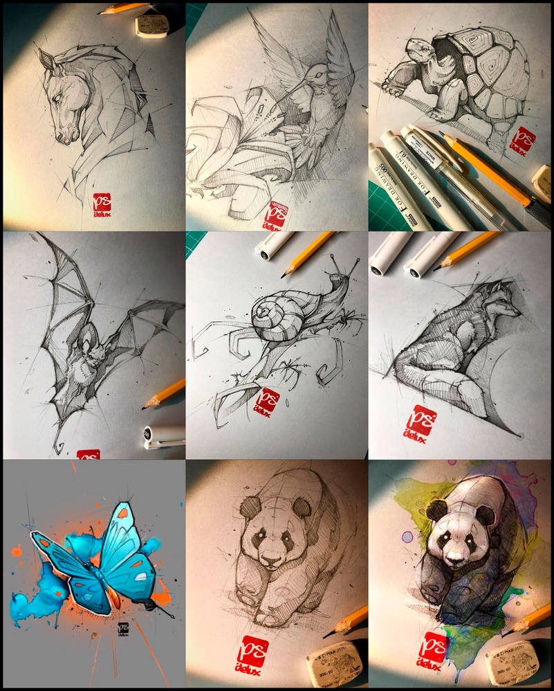 Sketches From Sept And Oct Psdelux by psdeluxe