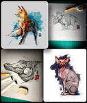 Animal Sketches Psdelux
