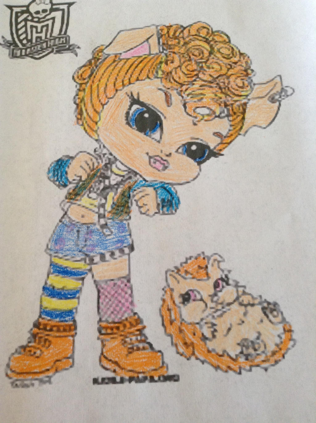 chibi howleen coloring page by lilmonstermix on deviantart