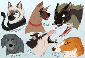 Some Ginga chars [Fanart] by Mihoku-san