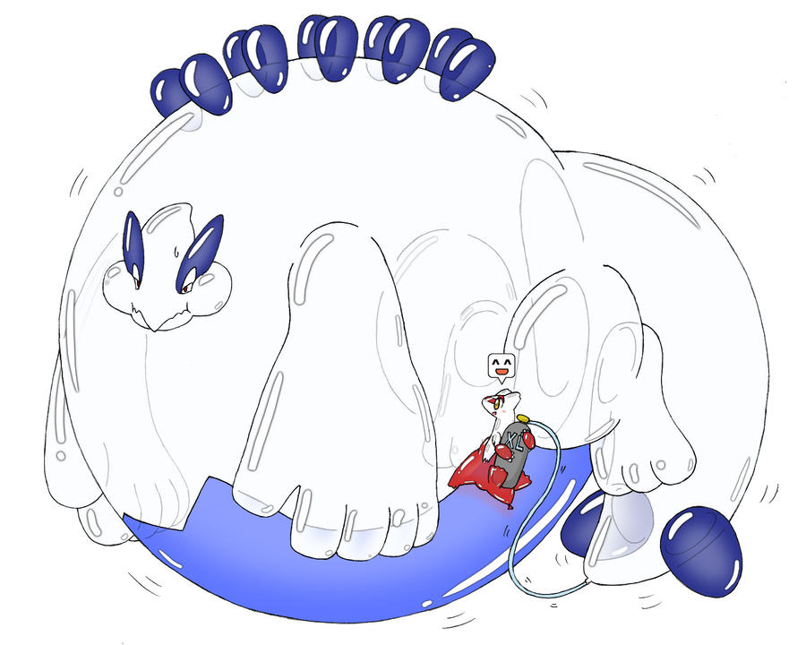 Balloonie Lugia Inflation by Wingfox on DeviantArt