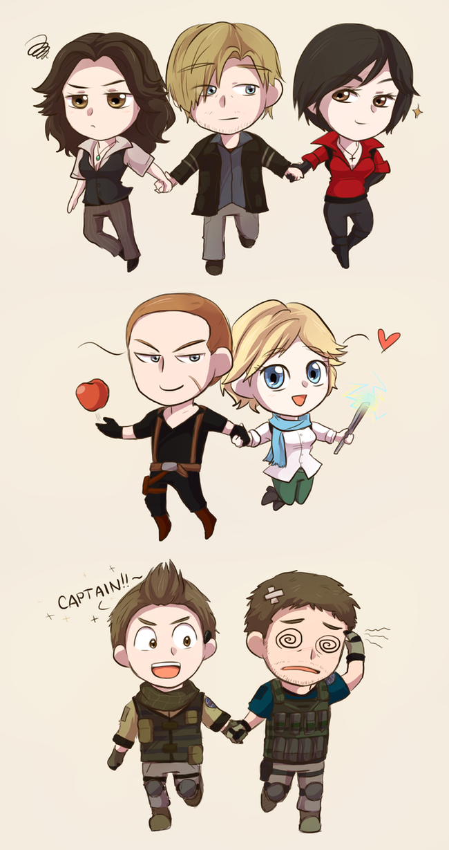 Resident Evil Chibis By Keterok