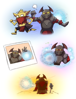 Chaos knight + Wisp by keterok