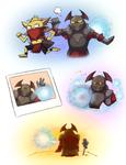Chaos knight + Wisp