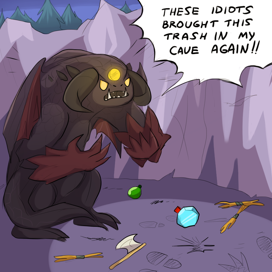 Mess in Roshan's cave by keterok