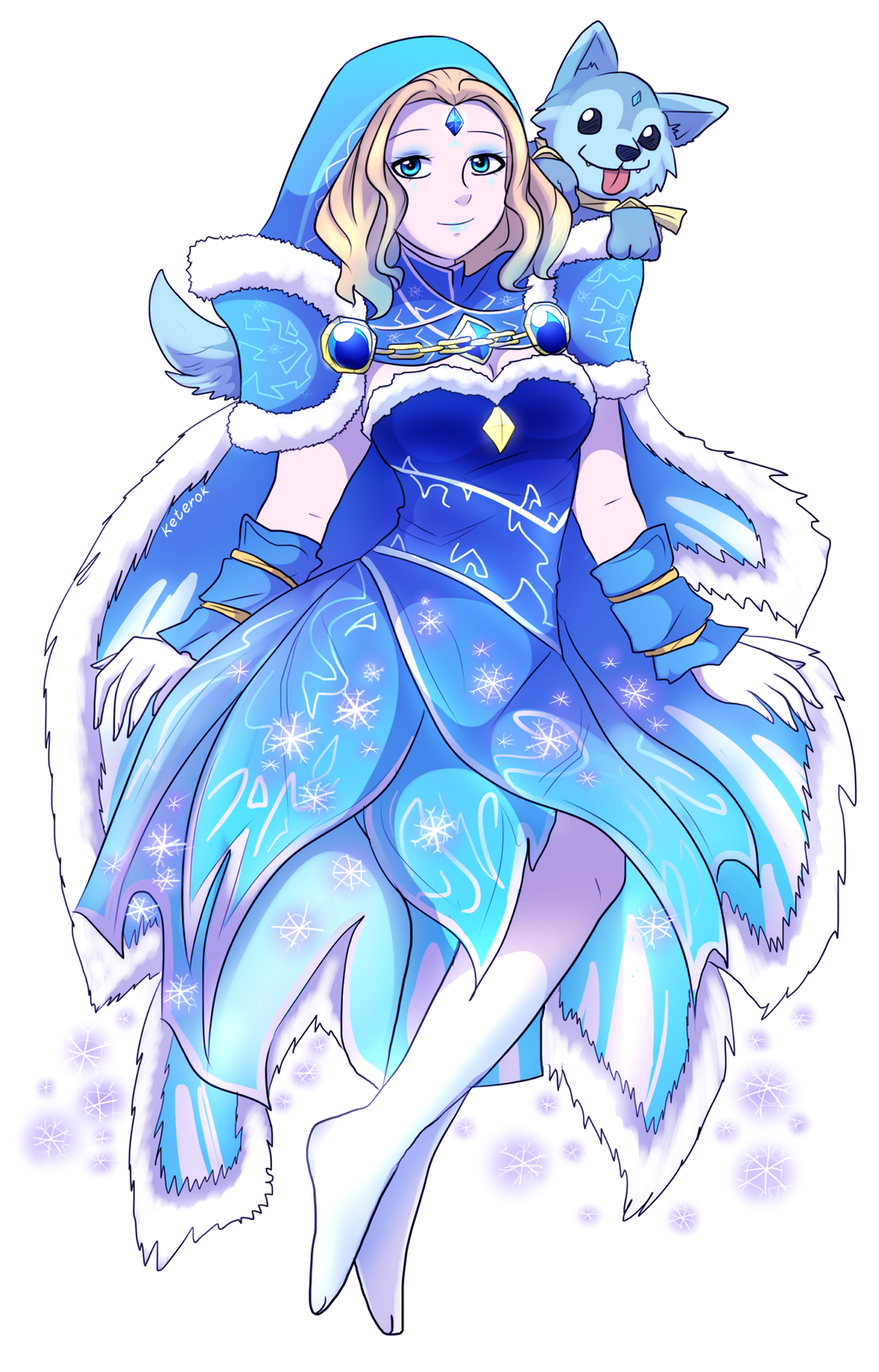 Crystal Maiden Arcana by keterok on DeviantArt