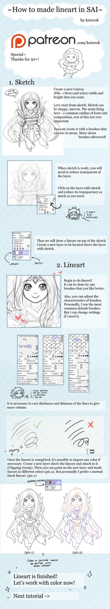 Lineart tutorials on painttoolsai deviantart how i draw lineart in sai tutorial by keterok baditri Gallery