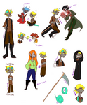 Gwill Sketch Dump by NoContextWhatsoever