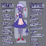Maura Ref Sheet (OC) by NoContextWhatsoever