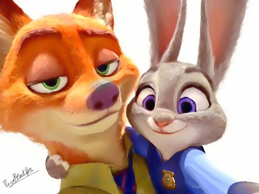 Ausmalbild Nick Und Judy Hopps Aus Zootopia: Judy Hopps And Nick Wilde (Zootopia) Fanart By