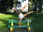 Breakdance Posing Balance