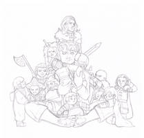 Bilbo and Baby Dwarfs by Seraph5