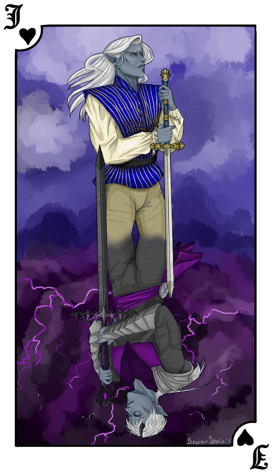 IC: White Knight, Black Knight by Gemini-Astrae
