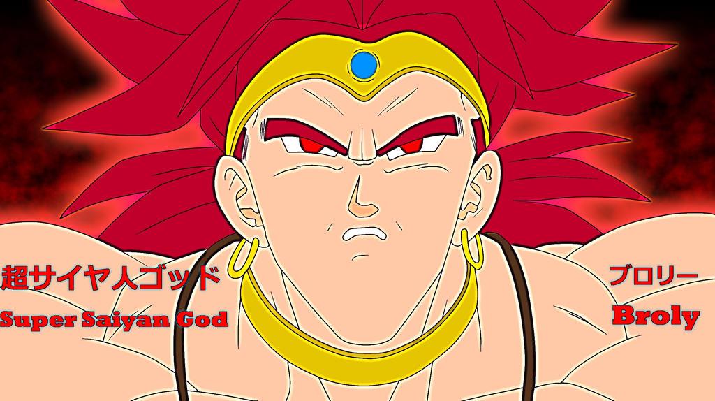 Super Saiyan God Broly by EliteSaiyanWarrior