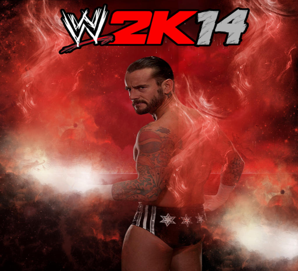 cm punk wwe 2k14 coverelitesaiyanwarrior on deviantart