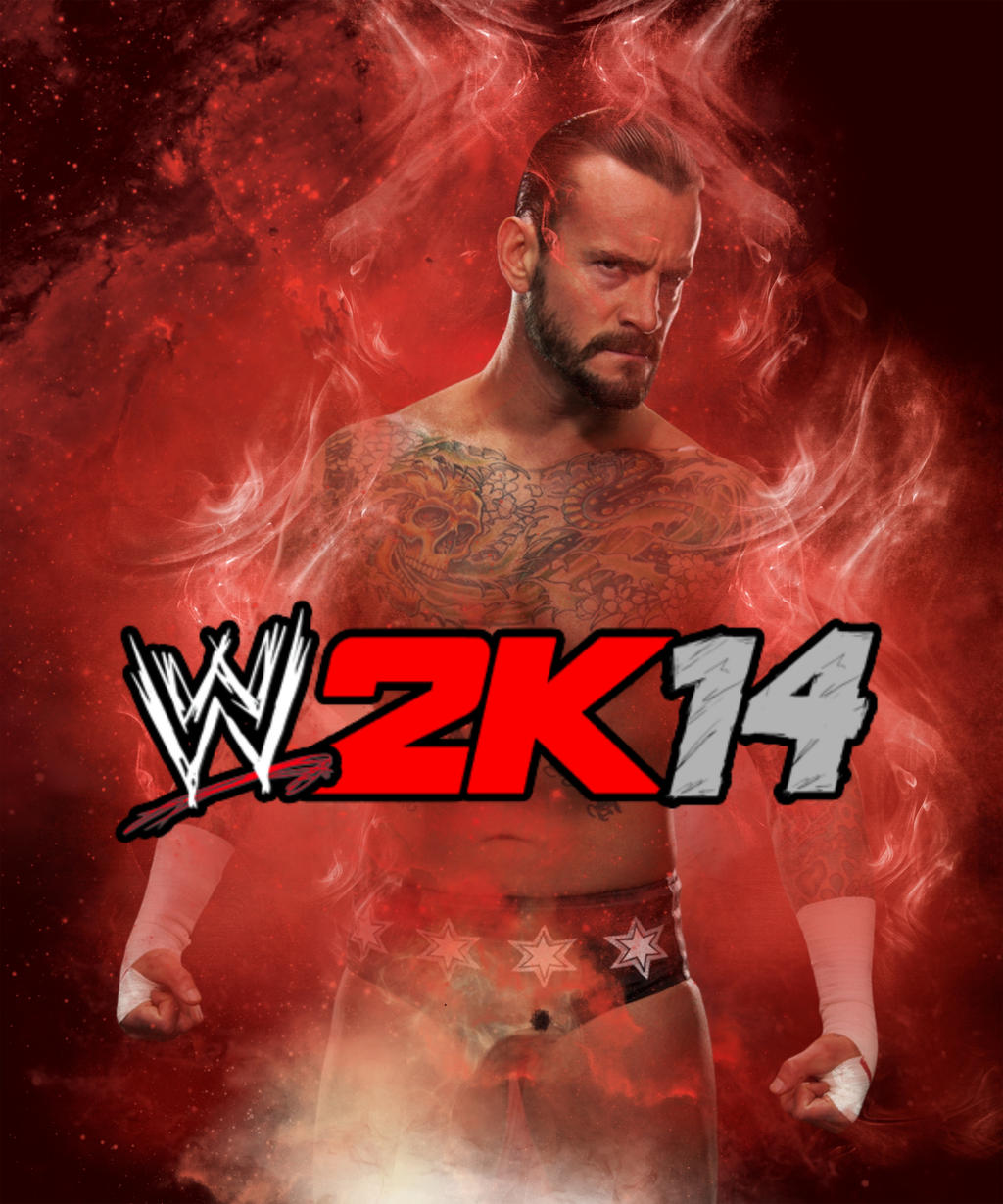 cm punk wwe 2k14 cover #2elitesaiyanwarrior on deviantart