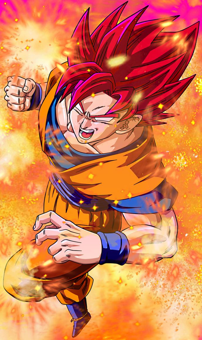 Super Saiyan God 2 Goku SSJG2 By EliteSaiyanWarrior