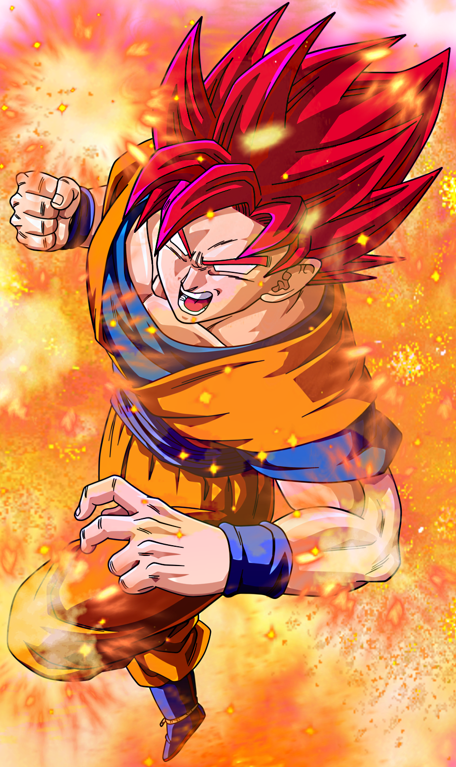 Super Saiyan God 2 Goku (SSJG2) by EliteSaiyanWarrior on ...