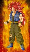Super Saiyan 3 God Trunks by EliteSaiyanWarrior