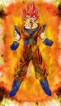 Super Saiyan God Goku Power Up
