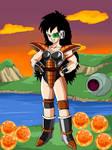 Female Saiyan With Raditz Armor W/Backround