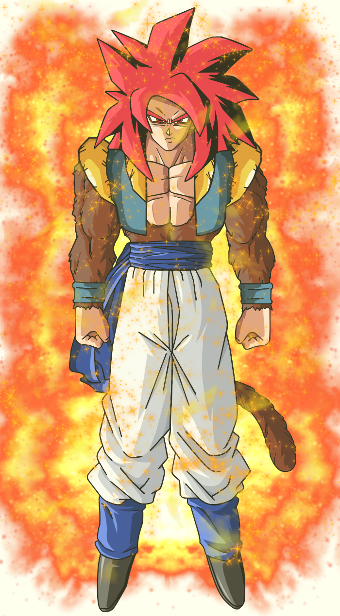 Super Saiyan 4 God Gogeta With Aura by EliteSaiyanWarrior