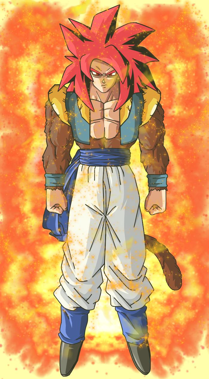 Super Saiyan 4 God Gogeta With Aura by EliteSaiyanWarrior