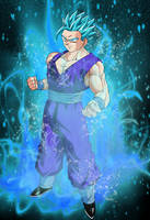 SSGSS Gohan #2 (Piccolo Gi) by EliteSaiyanWarrior