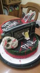 Jason/Freddy Birthday Cake by EliteSaiyanWarrior