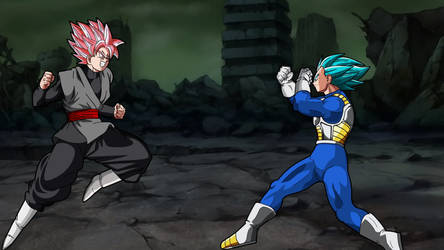 Goku Black vs SSJB Vegeta