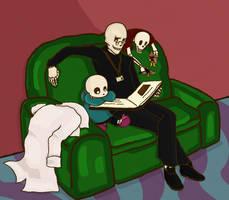 Undertale - Bedtime Stories by octone-berri
