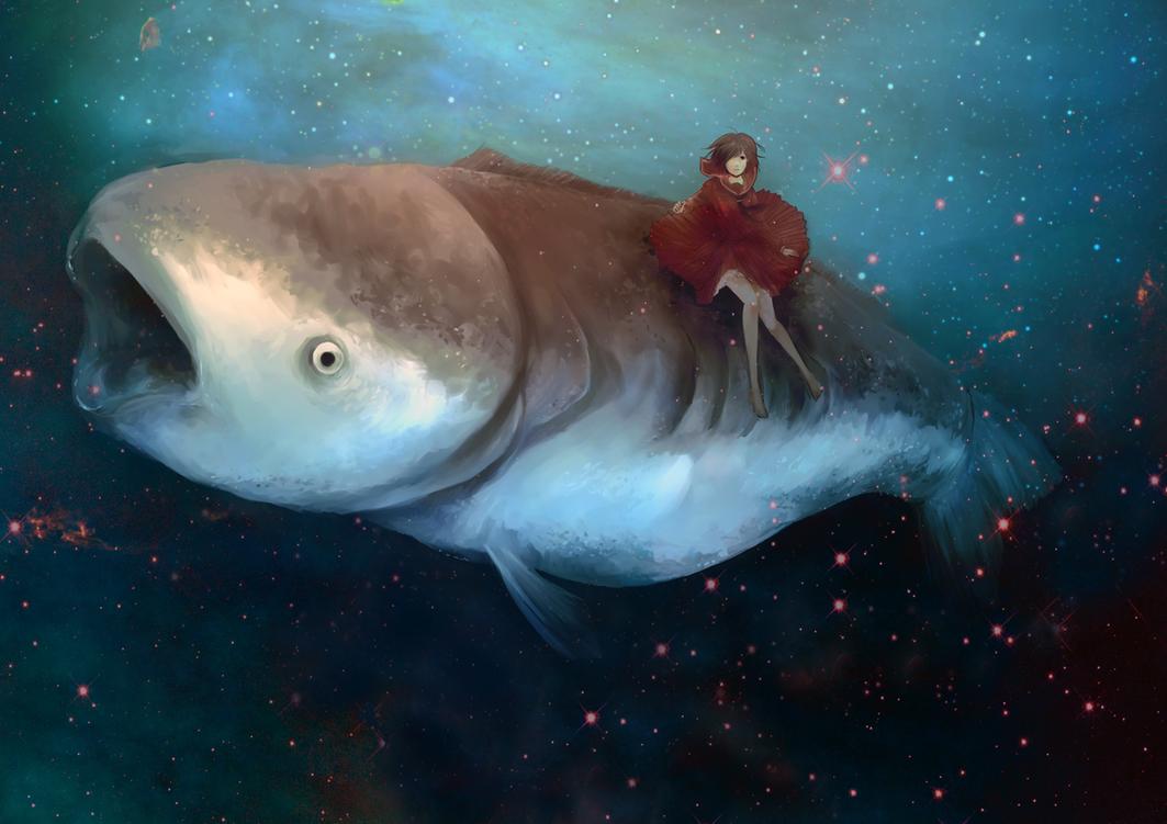 Pez gordo en el Oceanoespacio by LawlietXD