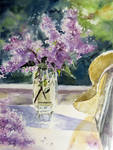 Lilacs by magicalwatercolor