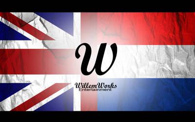 British - Dutch Flag Wallpaper by WillemWorks