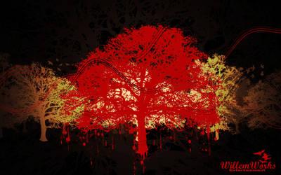 Trees ArtOff Scenery Wallpaper by WillemWorks